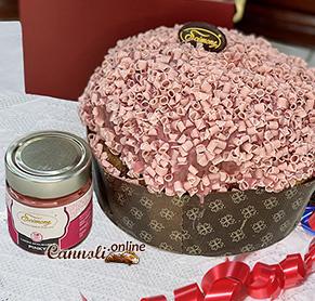 Panettone artisanal à la crème au chocolat rubis