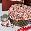 Panettone artesano con crema de chocolate rubí