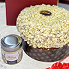 Panettone artigianale con crema al cioccolato bianco