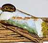 6 Gourmet Cannoli covered with Pistachio Chocolate