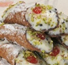 6 Cannolis Covered with Pistachios
