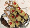 6 Cannoli sicilianos con ricotta con sabor a pistacho
