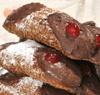 6 Cannoli sicilianos con ricotta con sabor a chocolate