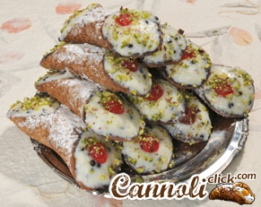 8 Cannoli Covered with Pistachios