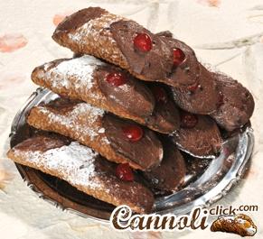 20 Cannoli Siciliani con Ricotta al Cioccolato