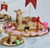 Kleine Schafe aus Marzipan