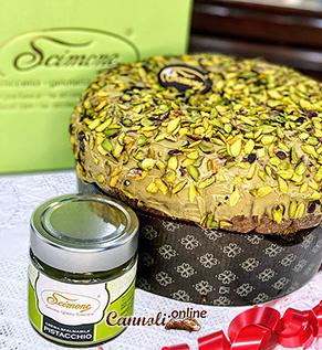Panettone artisanal à la crème de pistache